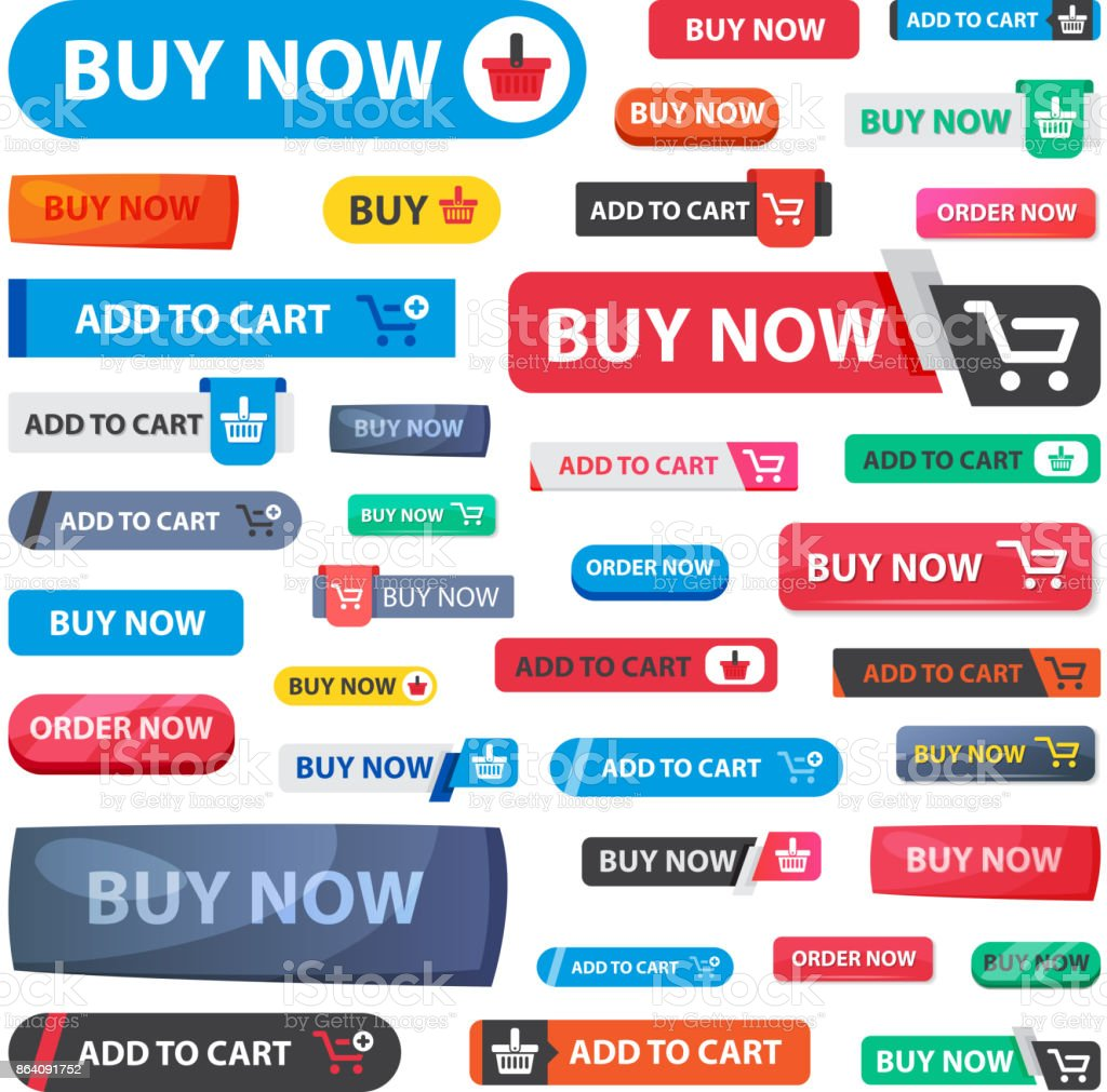 Online store sale vector web shopping buttons isolated on white background royalty-free online store sale vector web shopping buttons isolated on white background stock vector art & more images of advertisement
