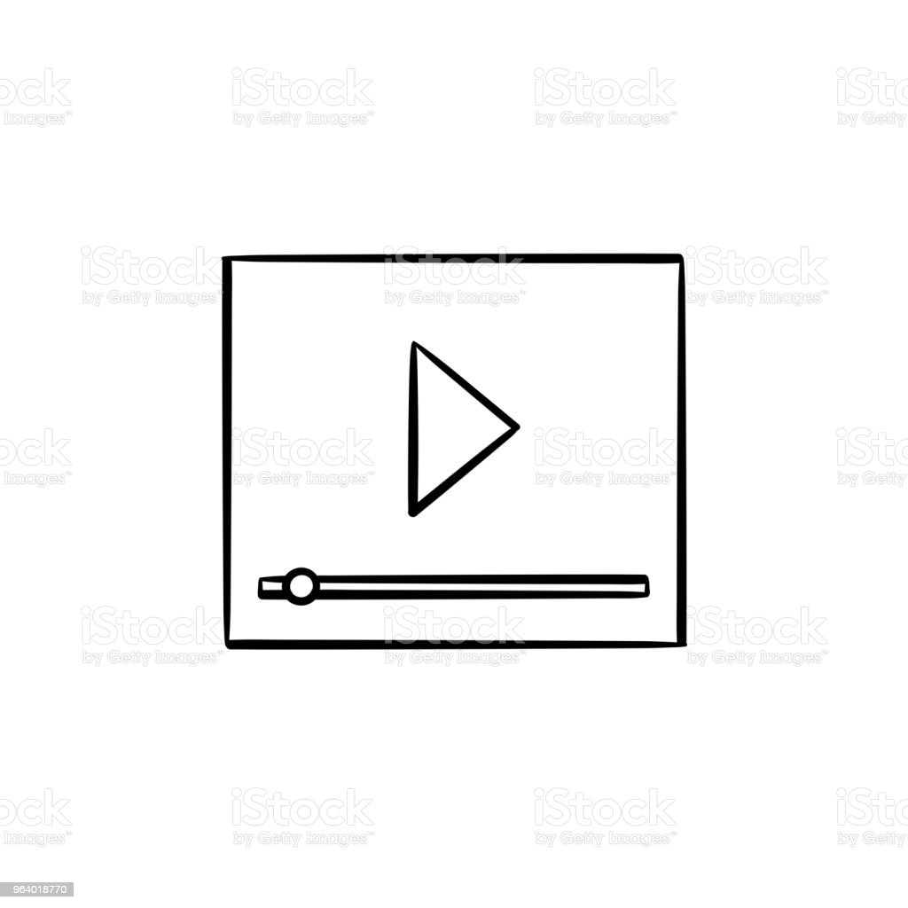 Online streaming hand drawn outline doodle icon - Royalty-free Audio Equipment stock vector