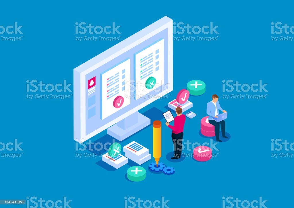 Online testing, online education Online testing, online education Advice stock vector