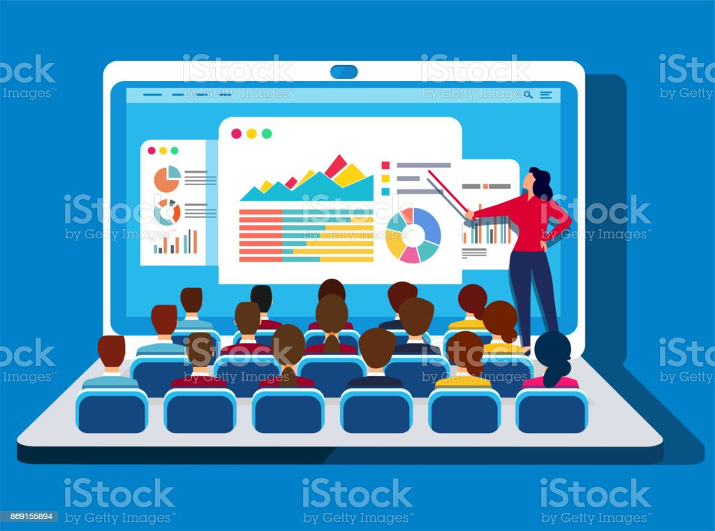 Online training royalty-free online training stock illustration - download image now