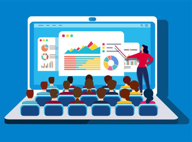 Online training Online training showing stock illustrations