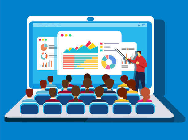 online-training - meeting stock-grafiken, -clipart, -cartoons und -symbole
