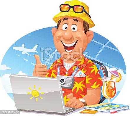 istock Online Travel Booking 472335977