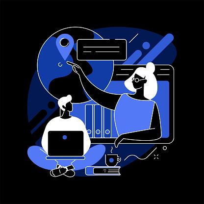 Online tutor abstract concept vector illustration.