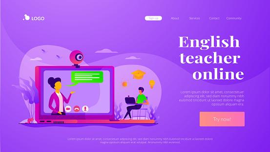 Online tutor landing page template