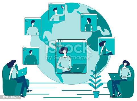 istock Online video conference 1289086727