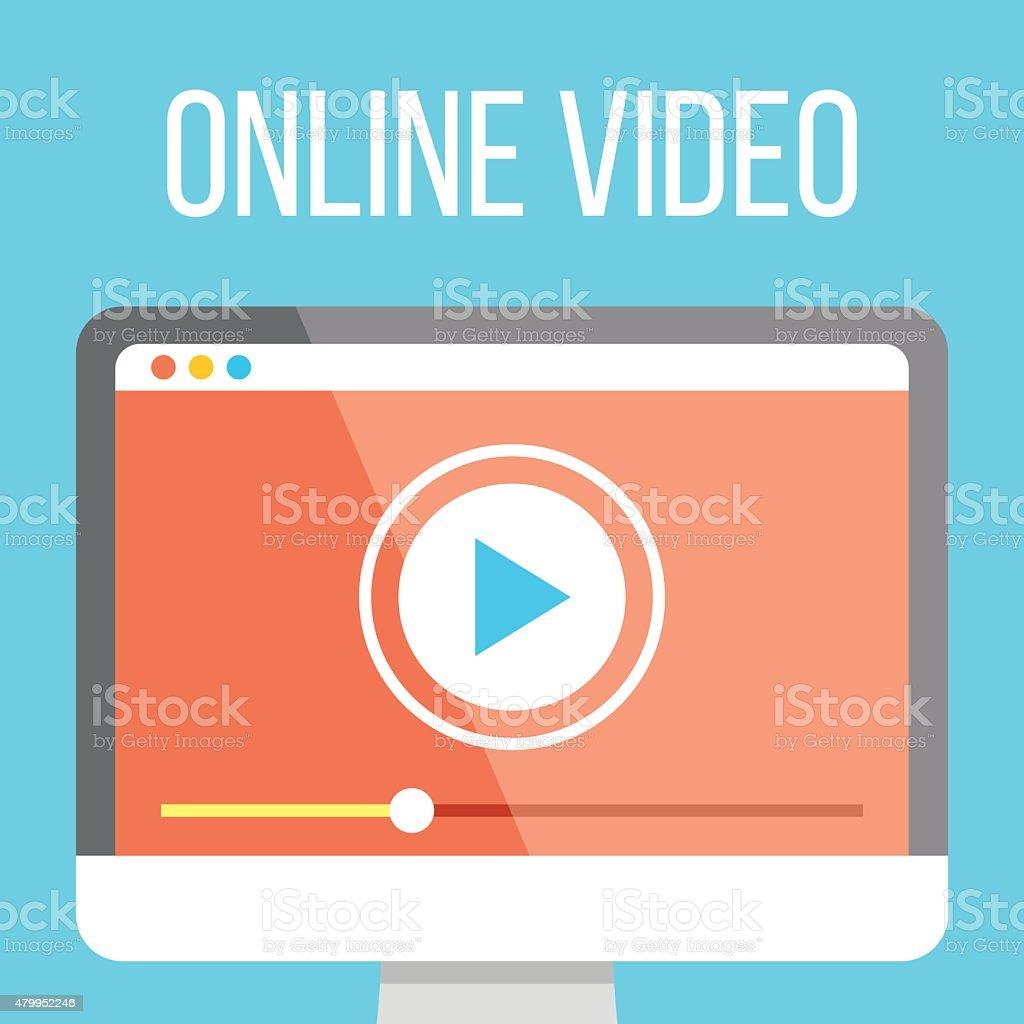 De vidéos en ligne à illustration - clipart vectoriel de 2015 libre de droits