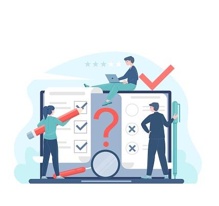 Online voting or survey concept
