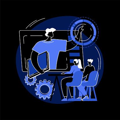 Online workshop abstract concept vector illustration.
