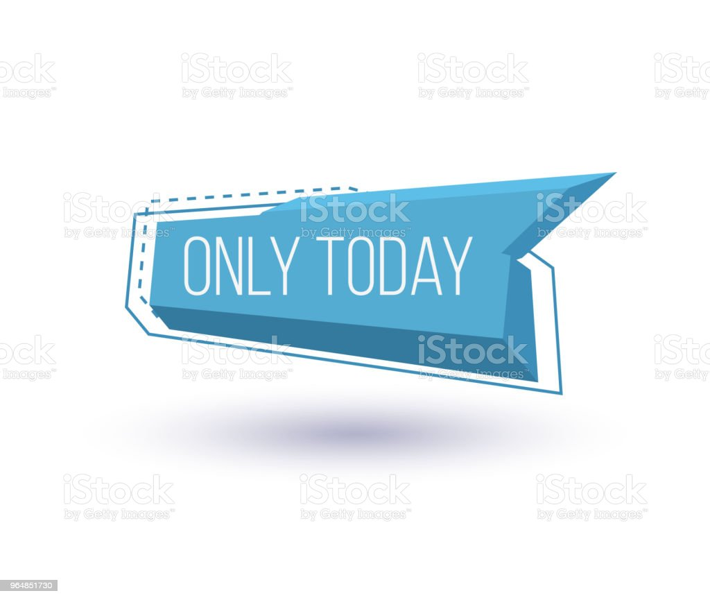 Only today isolated trendy geometric label royalty-free only today isolated trendy geometric label stock vector art & more images of advertisement