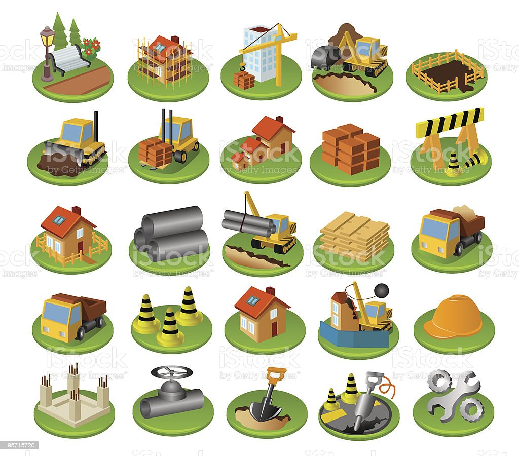 Сonstruction icon set royalty-free Сonstruction icon set stock vector art & more images of architecture