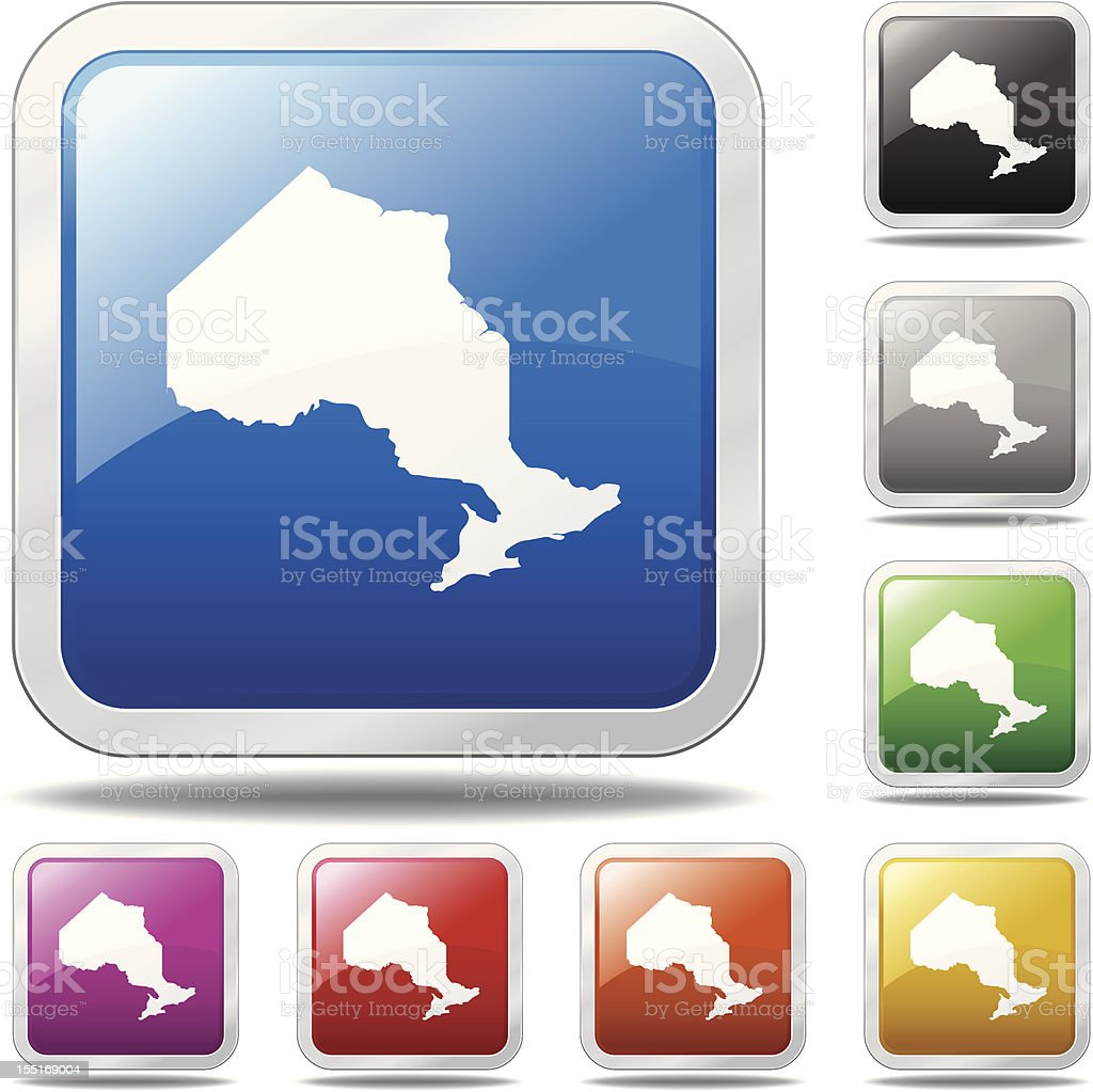 Ontario Icon royalty-free stock vector art