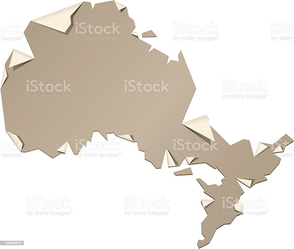 Ontario Peel vector art illustration