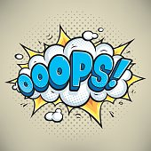 Ooops! Vector comic sound effects