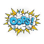 istock Oops! Vector comic speech bubble effect. 1319148638