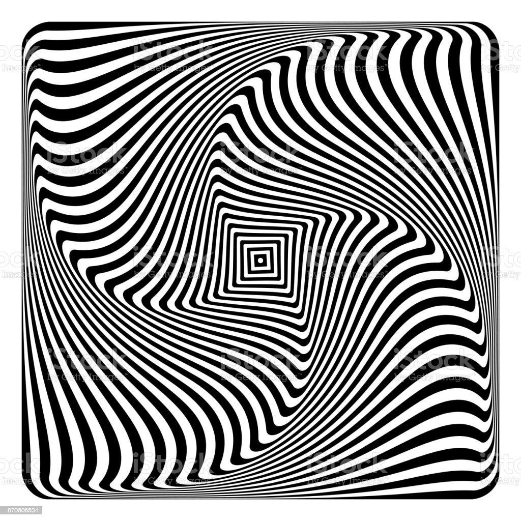 Op art abstract design. vector art illustration