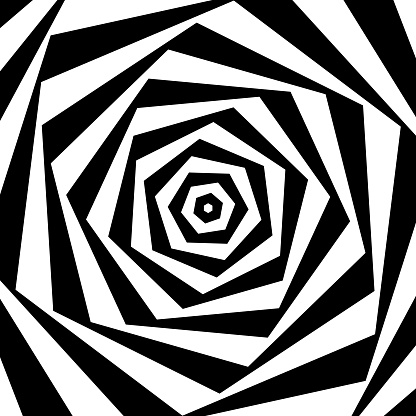 Op art: Twisted polygons