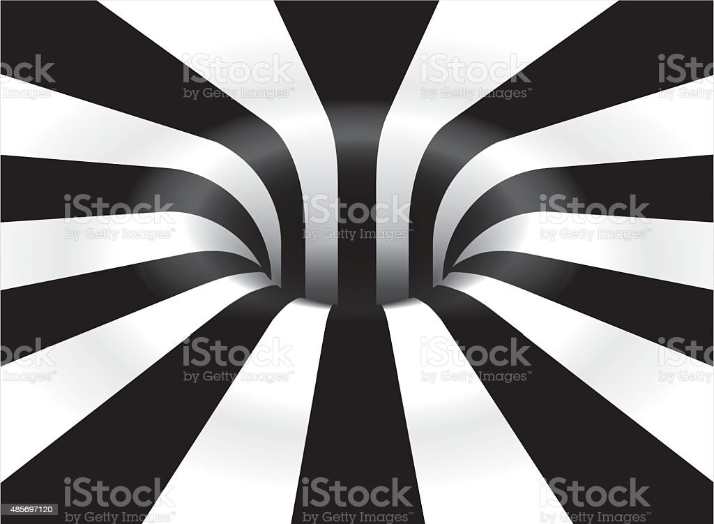 Op Art Vortex vector art illustration