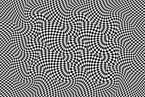 Op-art multiple swirl background