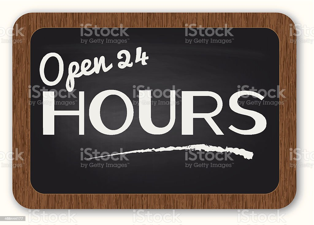 open 24 hours sign royalty-free stock vector art