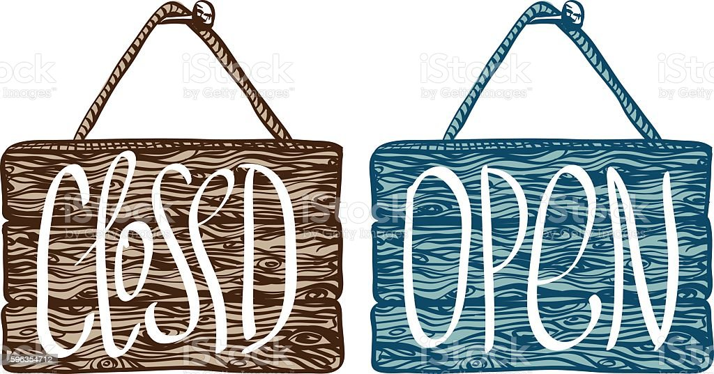 Open and closed sign royalty-free open and closed sign stock vector art & more images of backgrounds