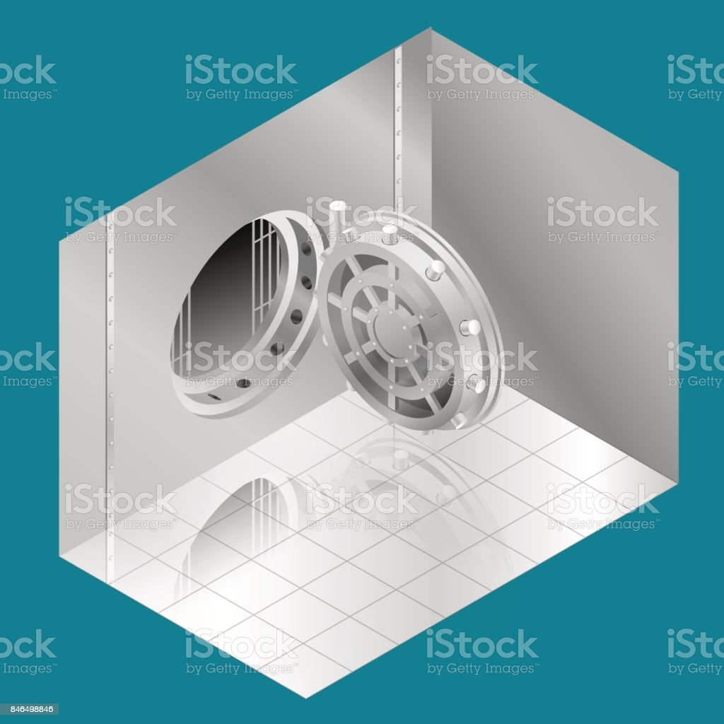 Porte De Chambre Forte De Banque Ouverte Illustration Vectorielle ...