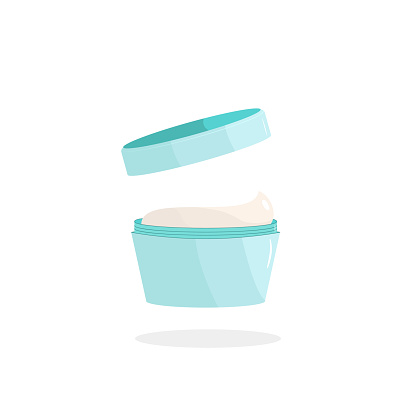 open beauty jar of cream