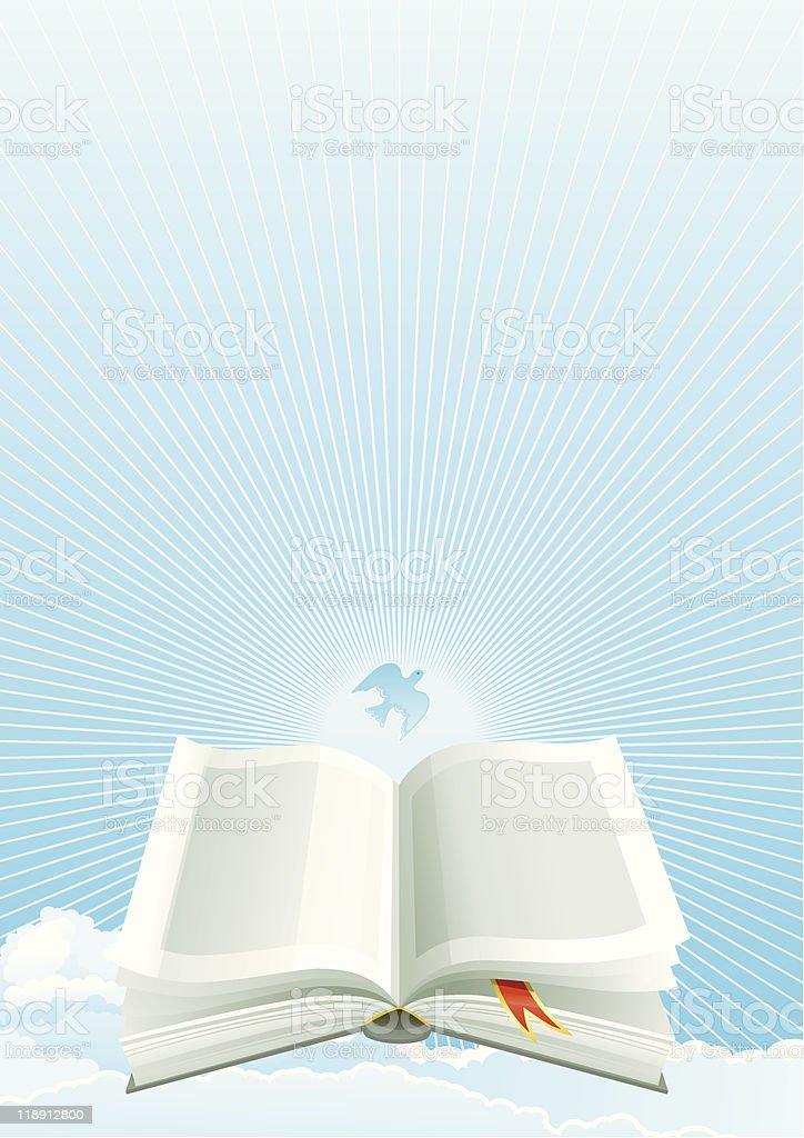 Ilustración De Biblia Abierta En El Cielo Y Más Banco De Imágenes De