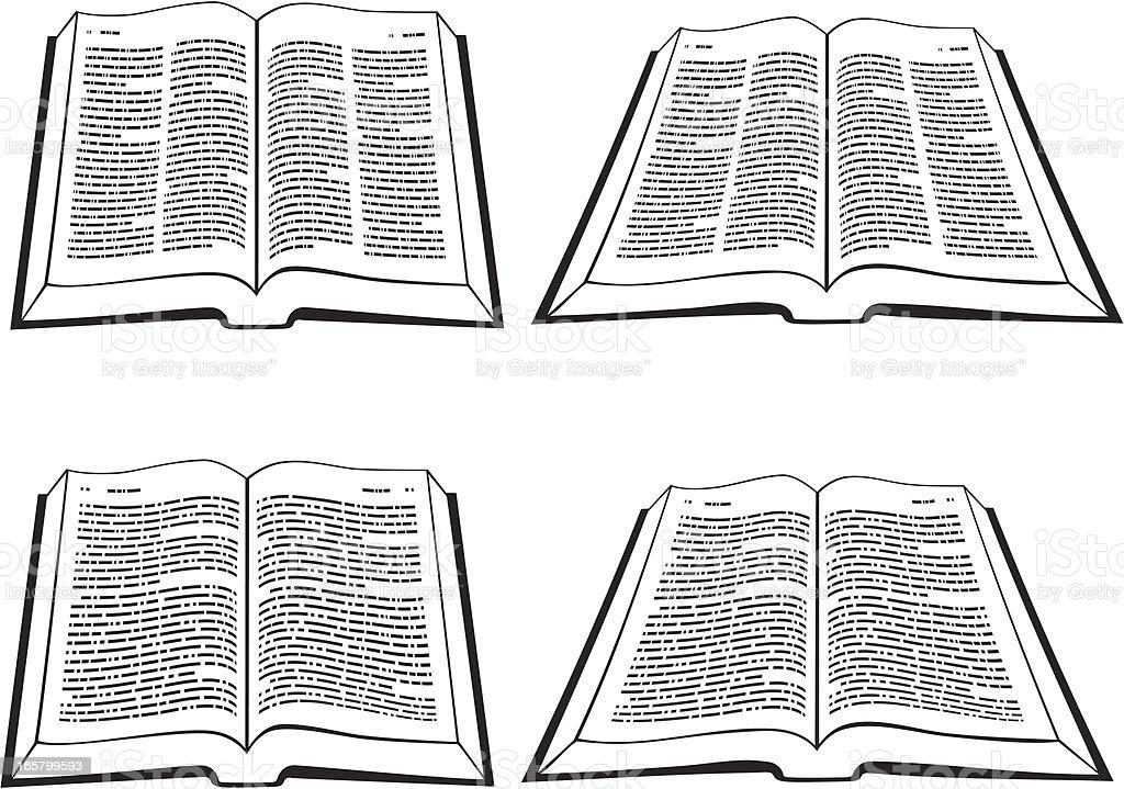 Offene Bibel – Vektorgrafik