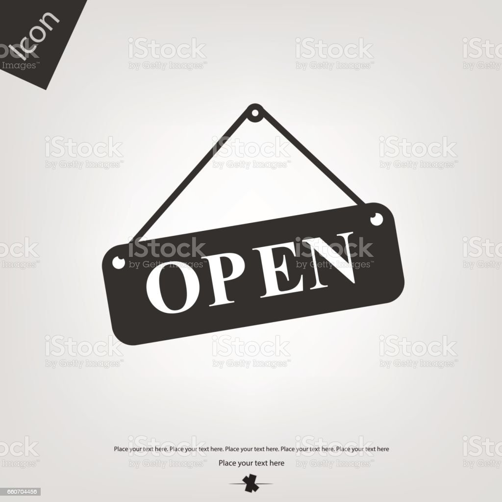 Open board icon vector art illustration