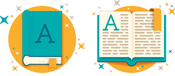 Open Book and Closed Book Open book and closed book reading icon or symbol learning research concept. EPS 10 file. Transparency effects used on highlight elements. book club stock illustrations