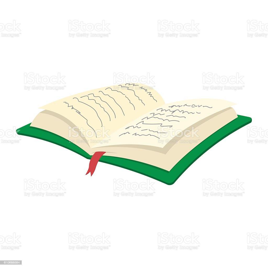 Open book cartoon icon vector art illustration
