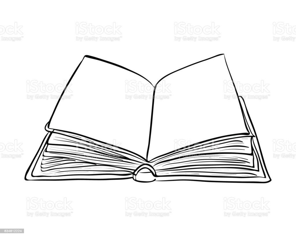 Ouvrez Le Livre Dessin Anime Vecteur Symbole Icone Design