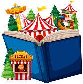 Open book circus theme