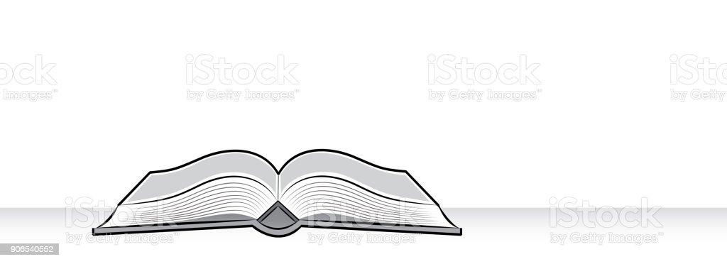 Livre Ouvert Dessin Du Livre Sur La Table Dans Le Style De