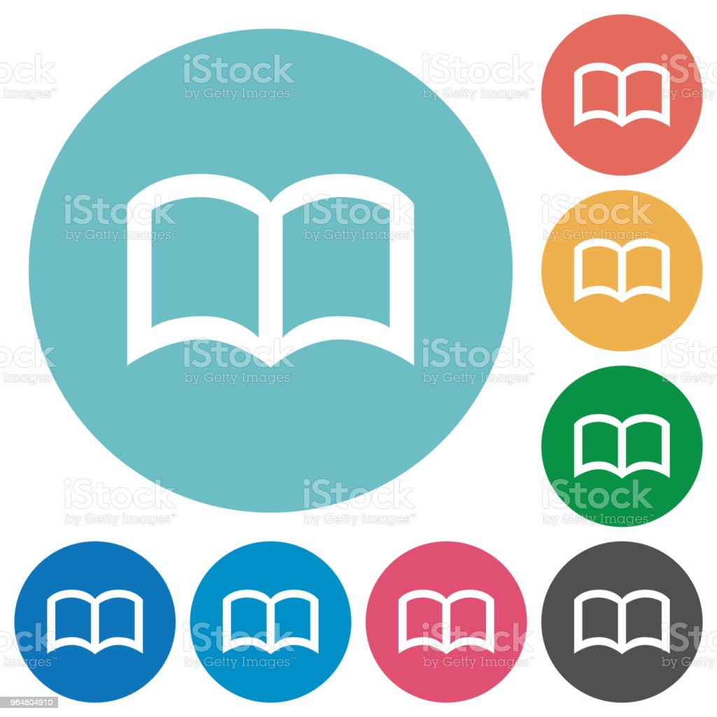 Open book flat round icons royalty-free open book flat round icons stock vector art & more images of blank