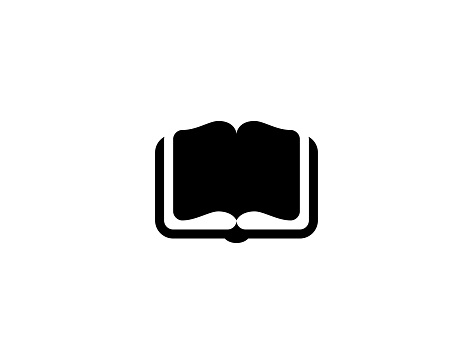 Open book icon. Isolated Open book symbol - Vector