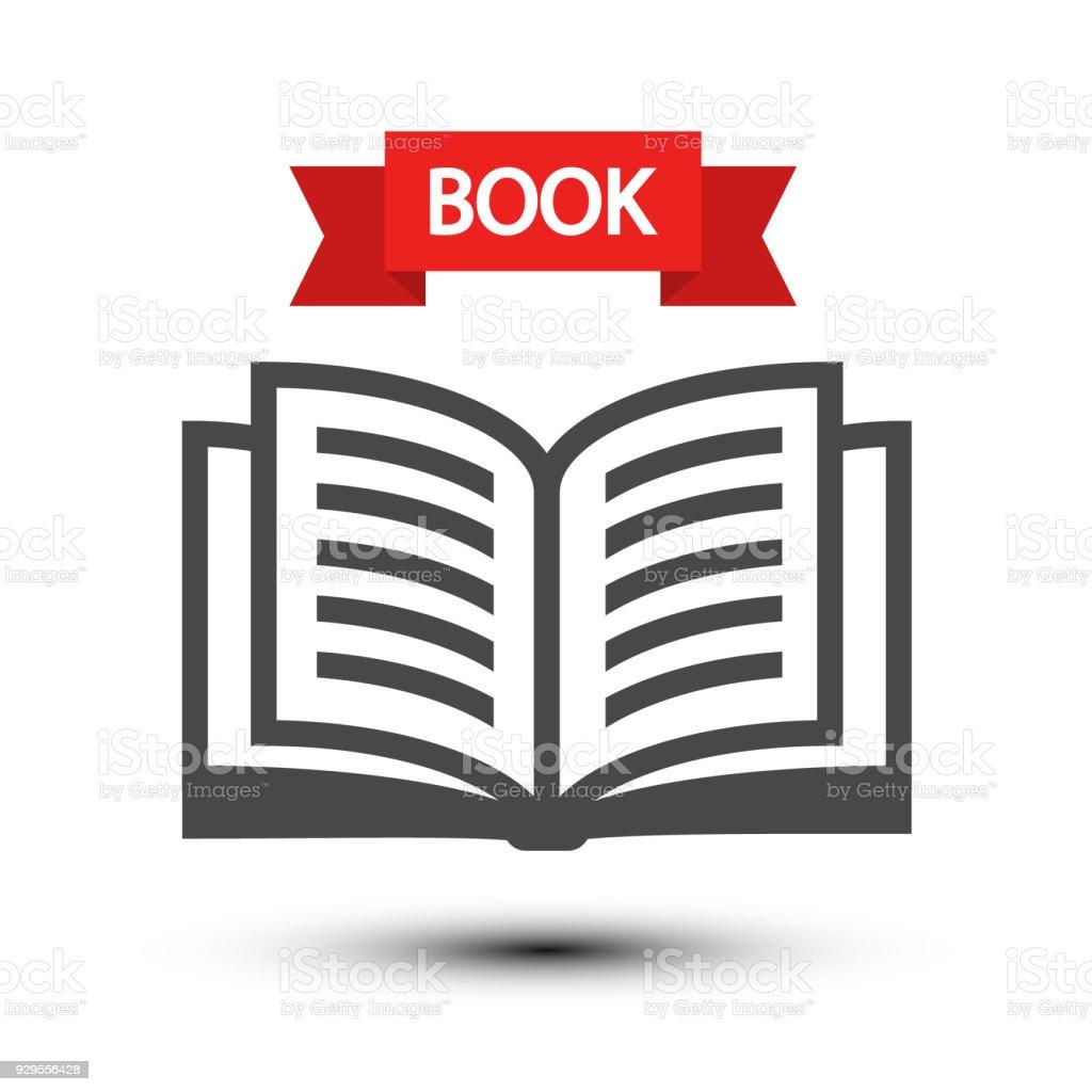 Open Book Icon vector art illustration