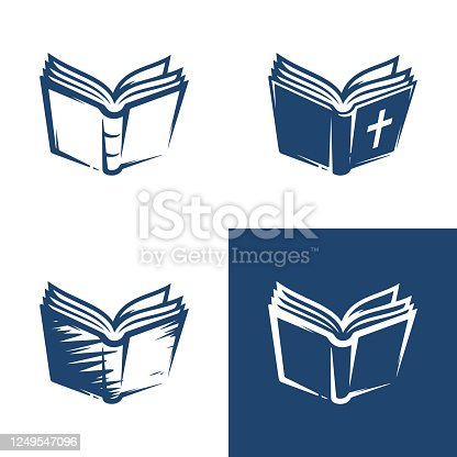 open book icons set isolated