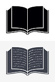 Open Book Icons. Vector Sign for Your Company