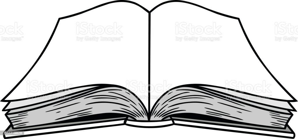 Open Book Illustration vector art illustration