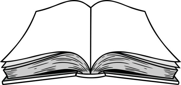 royalty free cartoon of blank open book clip art vector images