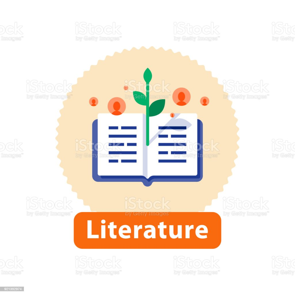 Literature reading, open book, storytelling concept, bookstore best...