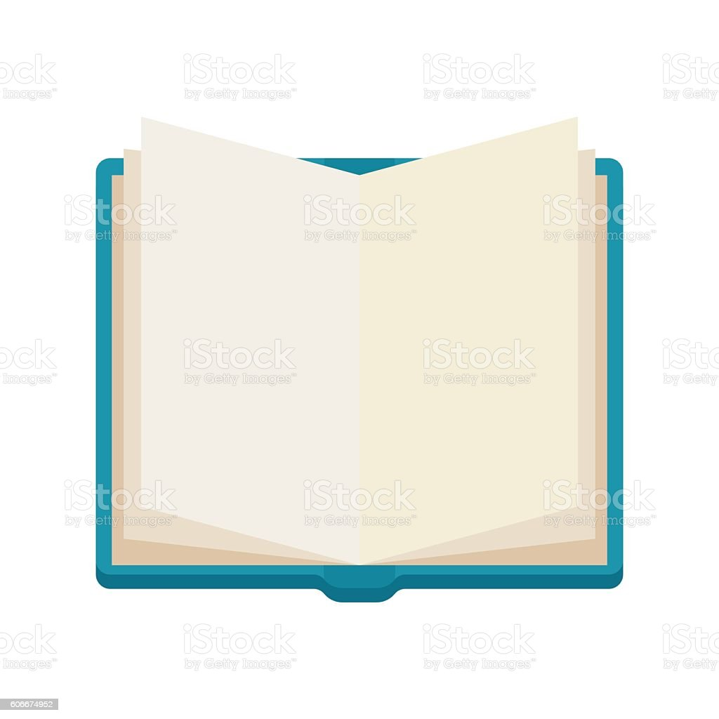 open book, notebook, vector icone vector art illustration