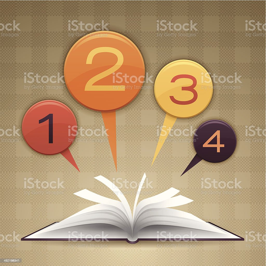 Open Book Options vector art illustration