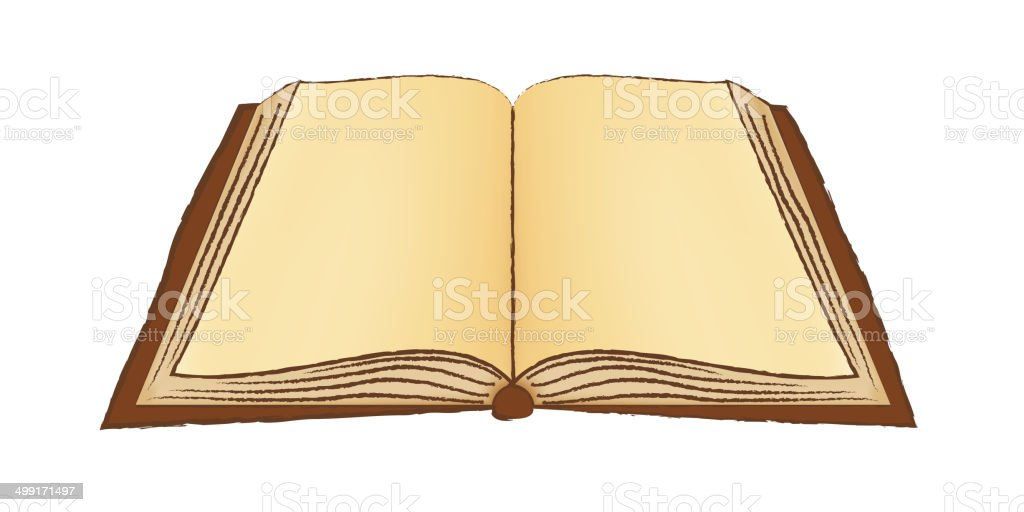 Open Book or Notebook or Holy Bible, Brown vector art illustration