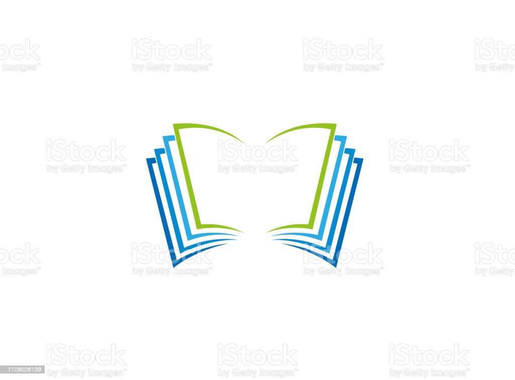 Logo De Pages Et Documents De Livre Ouvert Vecteurs Libres