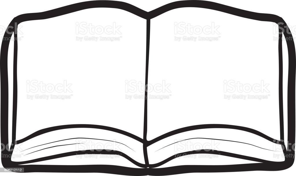 Ilustración De Vector De Dibujo De Libro Abierto Y Más