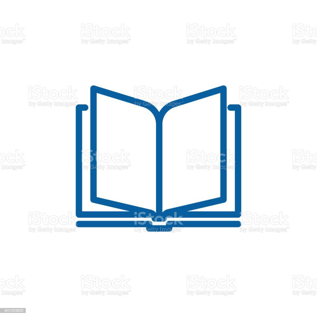 Icone De Livre Ouvert De Ligne Mince Illustration De Dessin