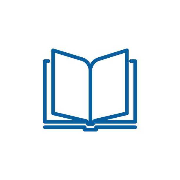 Open book thin line icon. Vector design illustration vector eps10 book icons stock illustrations